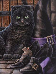 "Black Cat Magick Canvas Picture by Lisa Parker ""Trouble & Squeak"" New Design Chat Halloween, Halloween Pictures, Halloween Illustration, Lisa Parker, Gato Grande, Magic Cat, Black Cat Art, Black Cats, Witch Cat"