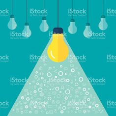 Lots of light bulbs for a creativity concept royalty-free stock vector art
