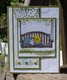 Watercooler Challenge - Sitting Here by Stampin.Scrapper - Cards and Paper Crafts at Splitcoaststampers.  (Pin#1: Scenes)