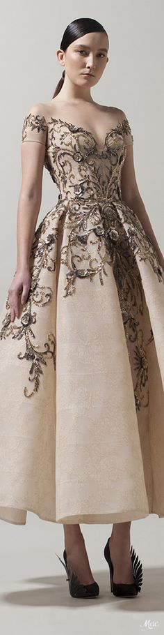 """Spring 2018 Haute Couture Saaid Kobeisy """"Tales from the East"""" Collection Special Dresses, Special Occasion Dresses, Formal Dresses, Spring Fashion, High Fashion, Tea Length Dresses, Colorful Fashion, Beautiful Gowns, Dress Up"""