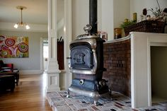 coal converted to wood stove