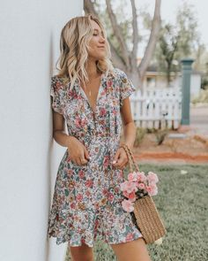 """42b8b2e0fef Auguste The Label on Instagram  """"Our Spring Rose Play Dress and a basket of  blooms. Just perfect"""