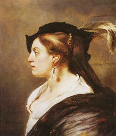 Portrait of a Lady, by Carel Fabritius -  Landesgalerie - Hannover (Cote D'ivoire), oil on canvas, 66 cm (25.98 in.) x 57 cm (22.44 in.)