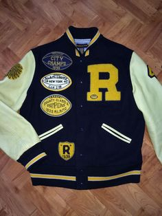 Very rare! ralph lauren rugby polo leather varsity letterman jacket rrl  vintage d2a05620bbe