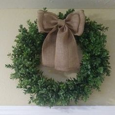 Kim Guidry added a photo of their purchase Wedding Chair Bows, Wedding Pews, Wedding Aisle Decorations, Wedding Wreaths, Bow Wedding, Wedding Chairs, Bridal Shower Decorations, Handmade Decorations, Wedding Rustic