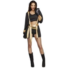 Catwoman Costume Women's Fever Knockout Costume - Shop our selection of sports costumes for women, like this great boxing costume. Shop sports costumes and save money today! Boxer Costume Women, Boxer Costumes, Sports Costumes, Alien Costumes, Sexy Costumes For Women, Group Costumes, Trendy Halloween, Halloween Kostüm, Boxing Halloween Costume