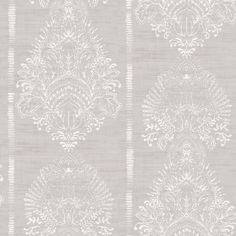 Silk Road Damask by Arthouse - Chalk - Wallpaper : Wallpaper Direct Look Wallpaper, Feature Wallpaper, Damask Wallpaper, Embossed Wallpaper, Wallpaper Online, Wallpaper Panels, Designer Wallpaper, Pattern Wallpaper, Hertex Fabrics