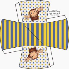 Curious George Free Printable Boxes.