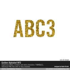 Golden Alphabet No. 03 at Designer Digitals