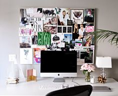 Bulletin boards are a MUST for every college dorm room! Collect things that inspire you and memories throughout the year to create a stylish collage.
