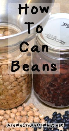 How To Can Beans~AreWeCrazyOrWhat.net