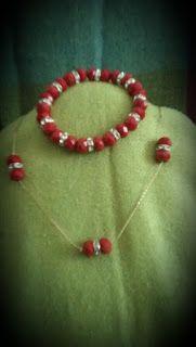 Mis diseños joyería y bisutería: Collar y pulsera en cristal checo, zirconias y cad...