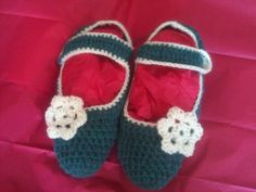 Beautiful crochet slippers handmade with love by little woollie