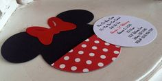 Handmade Custom Red Minnie Mouse Birthday by whimzycreations, $25.00