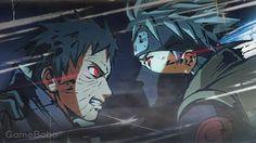 Obito and Kakasi Naruto Games, Naruto Art, Naruto And Sasuke, Anime Naruto, Manga Anime, Naruto Shippuden, Kakashi Hatake, Boruto, Tokyo