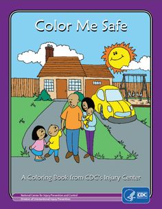 Teach your kids about #safety at home and on the go with this FREE coloring book from the CDC! Available in English and Spanish.