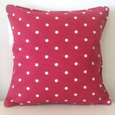 POLKA DOT RED SCATTER CUSHION COVER