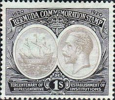 Bermuda 1920 King George V Institutions Tercentenary SG 64 Fine Mint SG 64 Scott 60 Other British Commonwealth Empire and Colonial stamps for sale Here