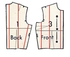 Pattern grading including how to on collar pieces and sleeves, vintage patterns.