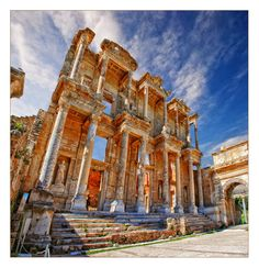 Celsus Library - Izmir Province, Turkey