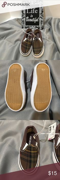 NWT Joe Boxer Baby Slipon Sneakers Shoes Joe Boxer Baby Slipon Sneakers Shoes. These are so cute. These were never worn. They do have a little mark on the sole of the shoe, but other than that they are in excellent condition. Joe Boxer Shoes Sneakers