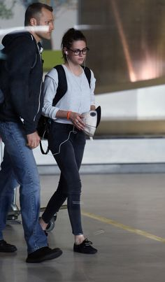 Kristen...at the airport Paris July 1, 2013