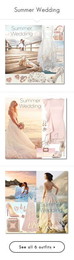 """""""Summer Wedding"""" by elza76 ❤ liked on Polyvore featuring Jimmy Choo, Accessorize, Michael Kors, Charlotte Tilbury, Christian Louboutin, Valentin Magro, Bloomingdale's, Roger Vivier, Miss Selfridge and Needle & Thread"""