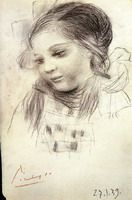Pablo Picasso. Portrait of Maya, 1939 More Pins Like This At FOSTERGINGER @ Pinterest