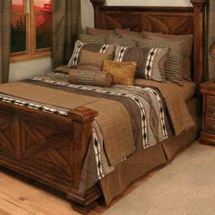 Apache #Rustic Coverlet Bedding Collection #bedding #beddingset #westernbedding    http://www.santaferanch.com/