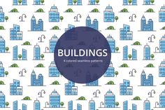 Buildings Vector Seamless Pattern is an interesting set, which is perfect for printing advertising products. You can make business cards, cards, logo, etc. Make Business Cards, Online Presentation, Website Design Layout, Free Vector Graphics, Create Website, Print Advertising, Icon Set, Icon Design, Free Design