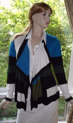 Grace Elements Size M Draped Front Very Stylish Sweater Rayon Blend #GraceElements #WrapSwing
