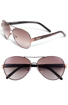 ray ban sunglasses sale new york  free shipping and returns on kate spade new york aviator sunglasses at chic metal aviators are branded with metallic logo insets at the temples and styled