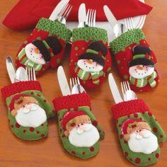 Christmas Mitten Silverware Holders