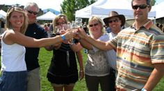Tasting wines at the Steamboat Wine Festival, Steamboat Springs, Colorado