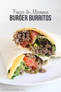 Freezer-to-Microwave Burger Burritos