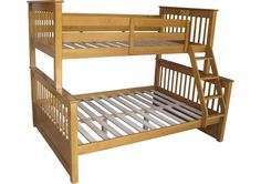 This bunk is unbelievably popular. Featuring a full double lower bed and single upper sleeping 3 Slatted base providing excellent support Available in Honey and White,Under bed storage drawers are also included