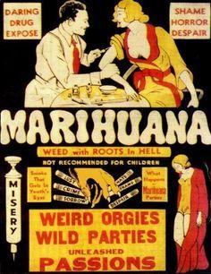 """Shame, horror, despair - vintage """"marihuana"""" poster. HAH!"""