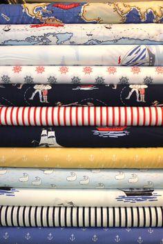 Sarah Jane  Out to Sea   Crib Bedding minus the navy pieces...