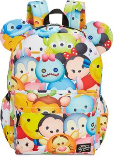 Tsum Tsum Ears Backpack Bring the fun of magic and friendship to everyday with this colorful printed Tsum Tsum backpack from Disney®, featuring plenty of pockets and an adorable 3-dimensional Minnie Mouse-ears design. Afflink.