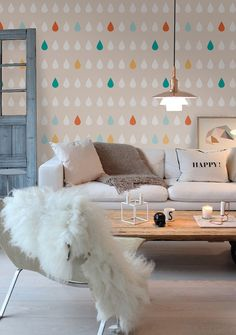 Auto adhesivo temporal extraíble papel tapiz pared de por Betapet