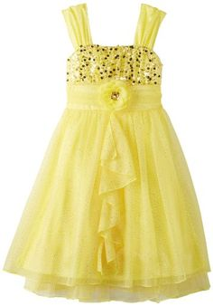 Yellow Yoru Chiffon Knee Length Girl Dress  Flower Girl Dresses ...