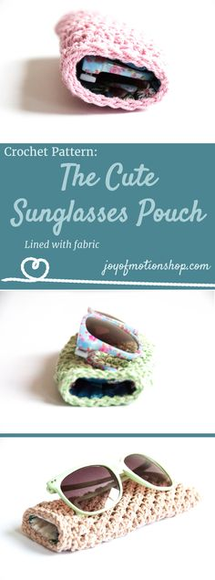 The Cute Sunglasses case - a crochet pattern. Crochet pattern for a sunglasses pouch. You will need hook, yarn, fabric and thread. Skill level beginner. Perfect birthday gift idea for a friend. DIY cute. | spectacle case | sunglasses case crochet pattern | sunglasses pouch crochet pattern | glasses case pattern. Click to purchase or repin to save it forever.
