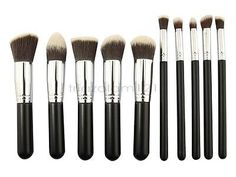 #Priceabate Wholesale 10x10PCS Pro Makeup Brush Set Kits Cosmetic Foundation Eyeshaow Blush - Buy This Item Now For Only: $123.0
