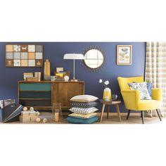 Coussin en coton bleu 50 x 50 cm NASH | Maisons du Monde
