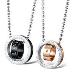 De gros bijoux en titane deux, couleur double cercle d\u0027acier incrusté  zircon cubique