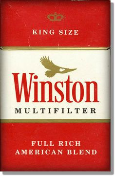 """Winston Hard Pack - Popular American brand smokes in the 70's and 80's > Originally introduced in 1954 by the R.J. Reynolds Tobacco Company, Winston quickly became one of the top selling cigarette brands and owing to the slogan """"Winston tastes good like a cigarette should,"""" it became the number one cigarette sold in the world by 1966, a position it held until 1972."""