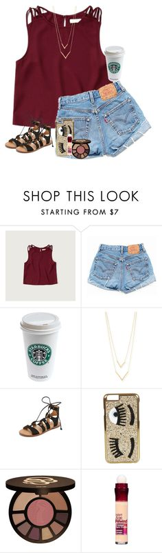 """Don't Count the Days, Make The Days Count✨"" by preppy-southern-girl88 ❤ liked on Polyvore featuring Abercrombie & Fitch, Levi's, Jennifer Zeuner, Dolce Vita, Chiara Ferragni, tarte, Maybelline and ellato2k"