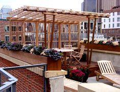 Rooftop Pergola No. RP2a - copper pipe pergola - TriBeCa