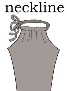 how to sew a drawstring halter dress http://www.pinterest.com/anastojkovic/free-patterns/