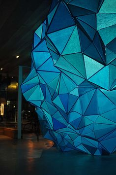 """""""What Lies Beneath"""" by Gabby O'Connor at City Gallery Wellington, NZ). Tissue paper and staples; exploring """"what lies beneath an iceberg"""". Light Architecture, Architecture Design, City Gallery, What Lies Beneath, Elements Of Design, Living At Home, Light Installation, Stage Design, Light Art"""
